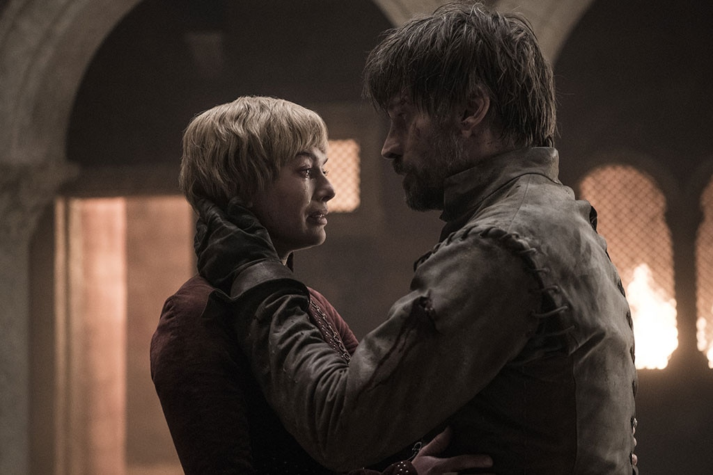 """Nikolaj Coster-Waldau On His """"Great Ending"""" -  Jaime and Cersei died in each other's arms—almost a happy ending given the much more brutal ways they could have died, especially considering everything they've each done. Coster-Waldau loved it."""