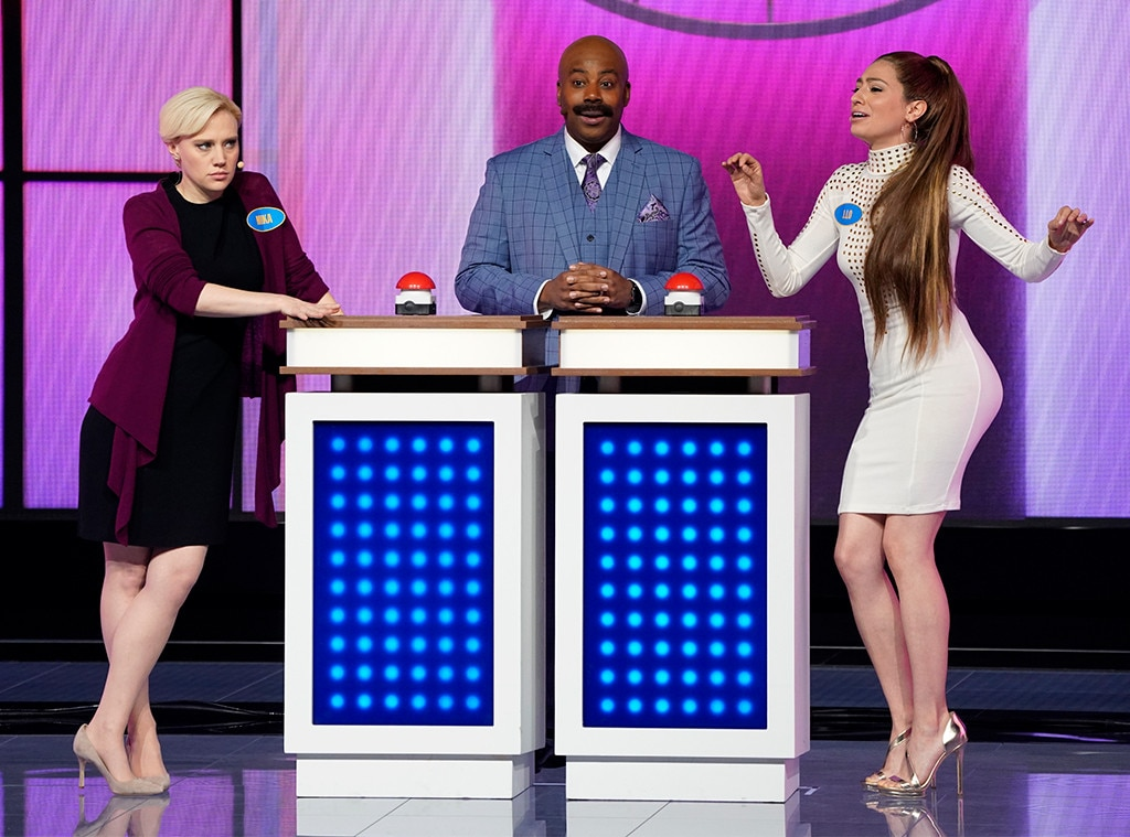 Kate McKinnon, Kenan Thompson & Melissa Villasenor -  The  Saturday Night Live  stars bring the funny by teasing what to expect (more  Family Feud  parodies) in the upcoming season of the long-running sketch comedy series.