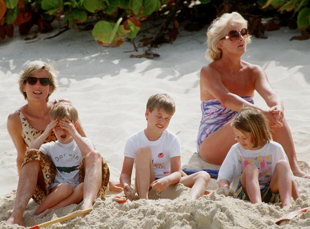 Princess Diana, Prince William, Prince Harry, Mom Frances Shand-kydd