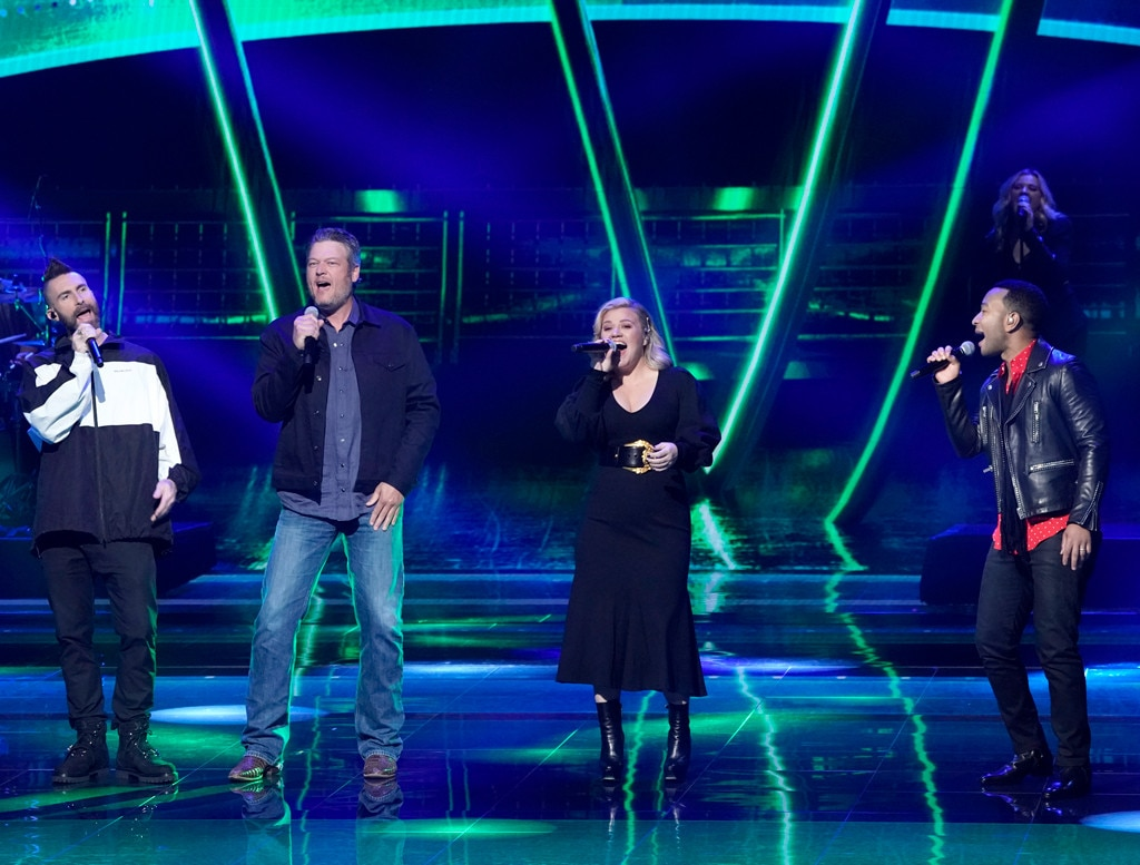 Adam Levine, Blake Shelton, Kelly Clarkson & John Legend -  The all-star coaches from NBC's  The Voice  deliver a musical performance.