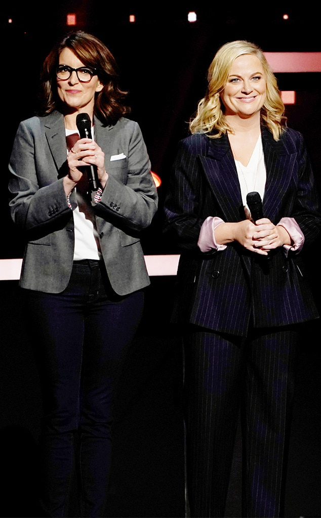 Tina Fey & Amy Poehler -  The IRL besties and comedic duo head to NBCUniversal's Upfront in support of season 2 of NBC's  Making It .