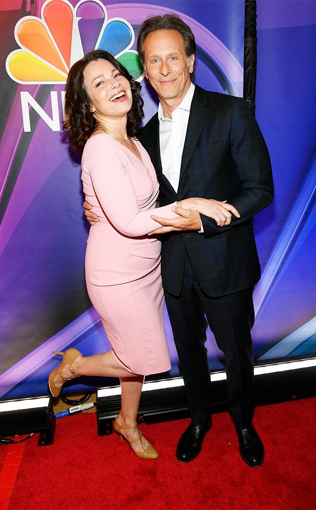 Fran Drescher & Steven Webber -  The stars of upcoming NBC comedy  Indebted  are all smiles on the red carpet.