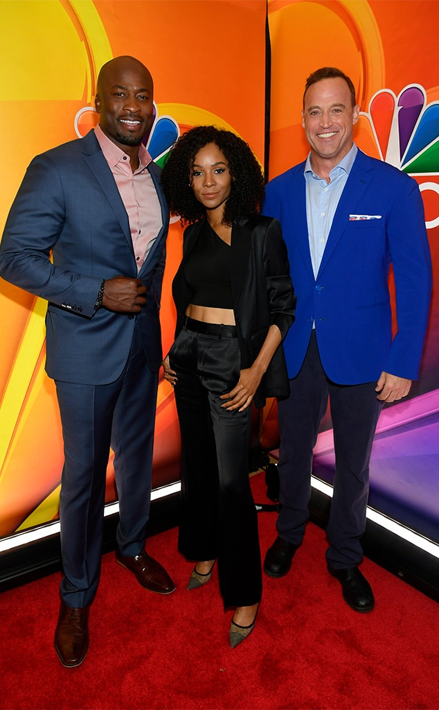 Akbar Gbajabiamila, Zuri Hall & Matt Iseman -  The co-hosts of NBC's  American Ninja Warrior  gear up for future episodes of the wildly popular competition series.