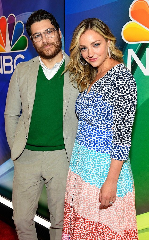 Adam Pally & Abby Elliott -  You'll see this faces on NBC's upcoming series  Indebted .