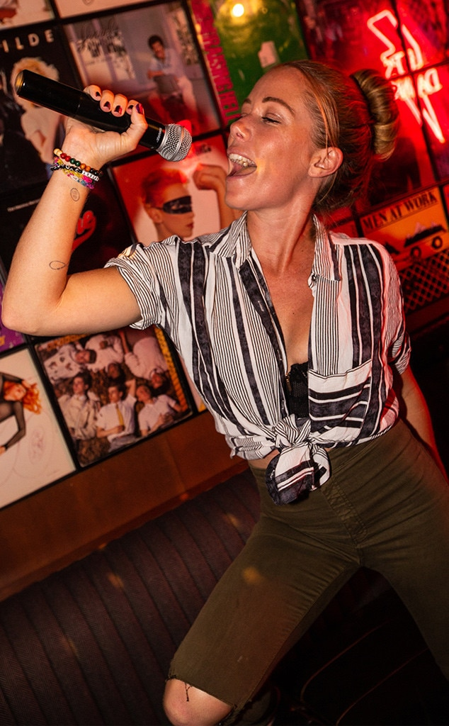 Park MGM -  Turn up the music, DJ! Kendra Wilkinson  visits On The Record where she plays pinball and sings her heart out in the karaoke rooms.