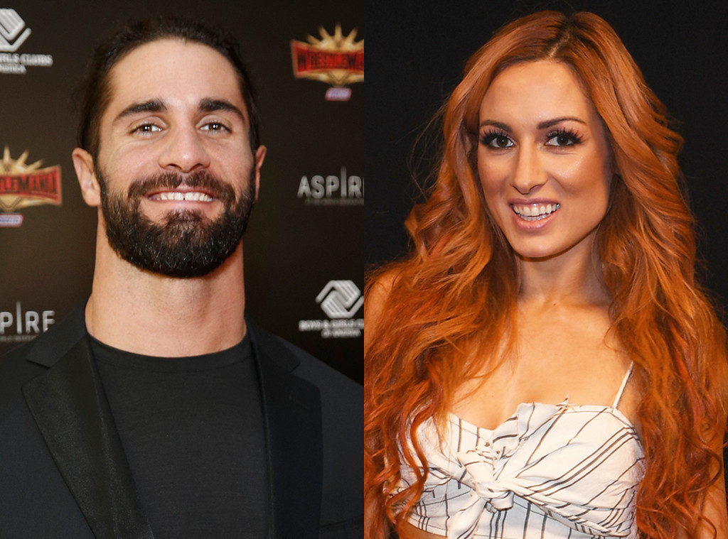 WWE's Becky Lynch and Seth Rollins Confirm Romance With PDA-Packed