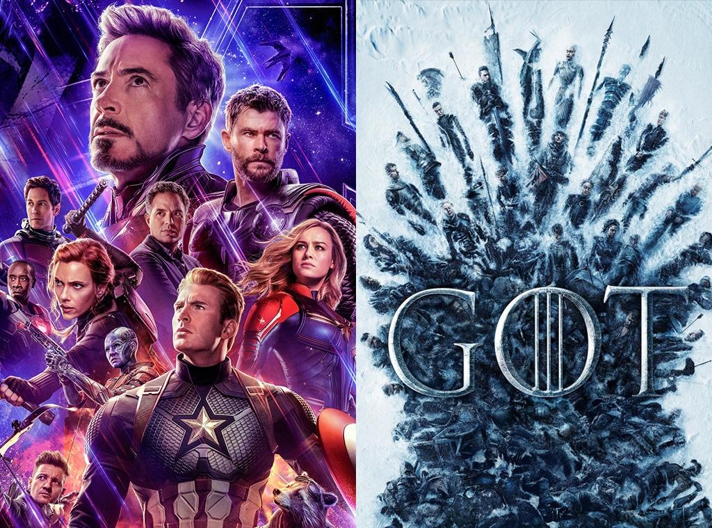 Avengers Endgame, Game of Thrones