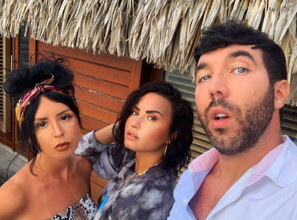 Matthew Scott Montgomery and Sirah with Demi Lovato