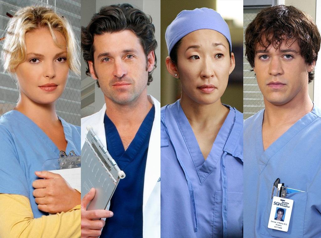 Katherine Heigl, Patrick Dempsey, Sandra Oh, TR Knight, Grey's Anatomy
