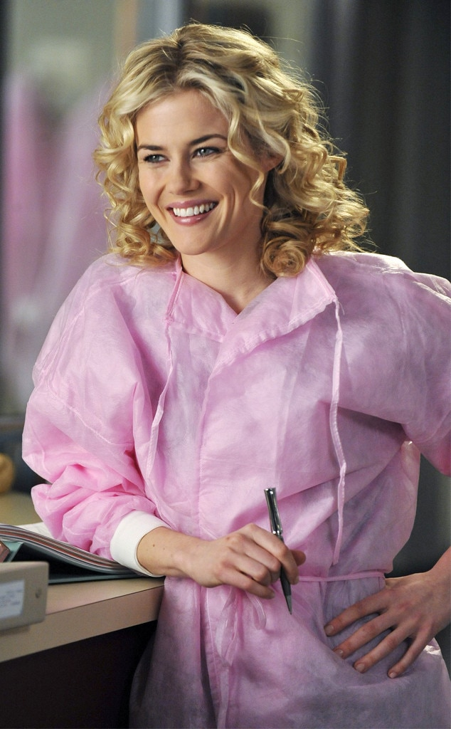 Rachael Taylor as Lucy Fields -  OBGYN Lucy kinda sorta stole an awesome job in Africa right out from under Alex's nose, partly because Alex hadn't even talked to her about the fact that he might move to Africa. So she moved to Africa instead and was never heard from again after season seven.