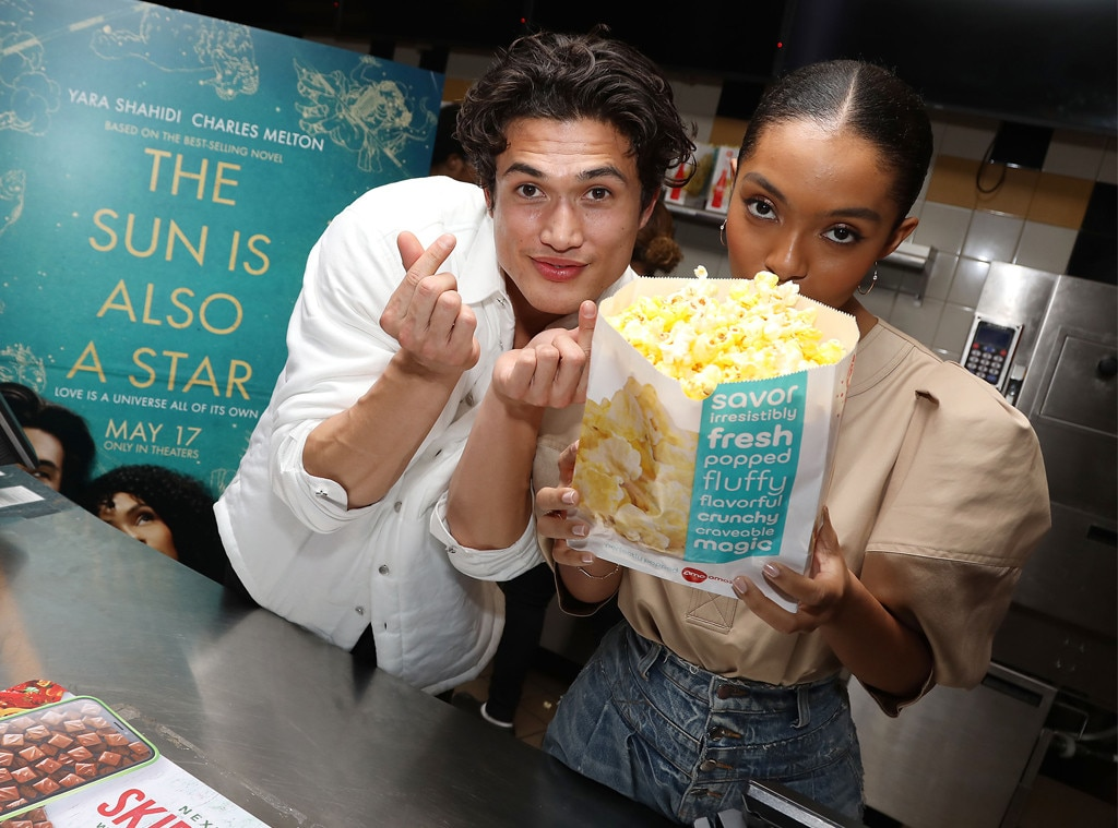 "Charles Melton & Yara Shahidi -  The two actors were having some fun surprising the fans at an Opening Night Screening of ""The Sun is Also a Star"" in Connecticut."