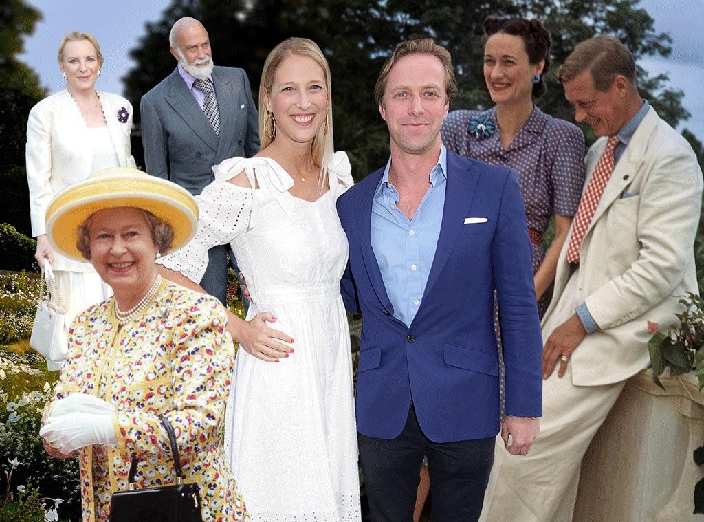 Lady Gabriella Windsor, Thomas Kingston, Queen Elizabeth II, Prince & Princess Michael of Kent, Edward VIII & Wallis
