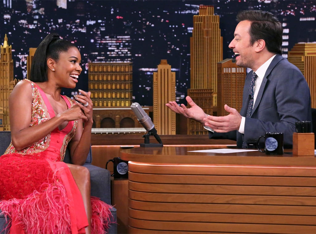 Gabrielle Union -  Our next guest! The  L.A.'s Finest  actress,  entrepreneur, and new mom  chats with host Jimmy Fallon during  The Tonight Show .