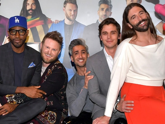 <i>Queer Eye</i>'s Tan and Karamo Jokingly Kiss After Jonathan and Antoni's Fake Romance