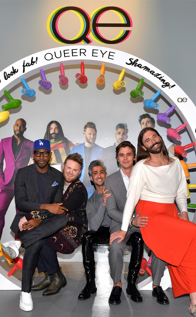 "Karamo Brown, Bobby Berk, Tan France, Antoni Porowski & Jonathan Van Ness -  Yaas! The Fab Five reunite at Netflix FYSEE ""Queer Eye"" Panel and Reception in Los Angeles."