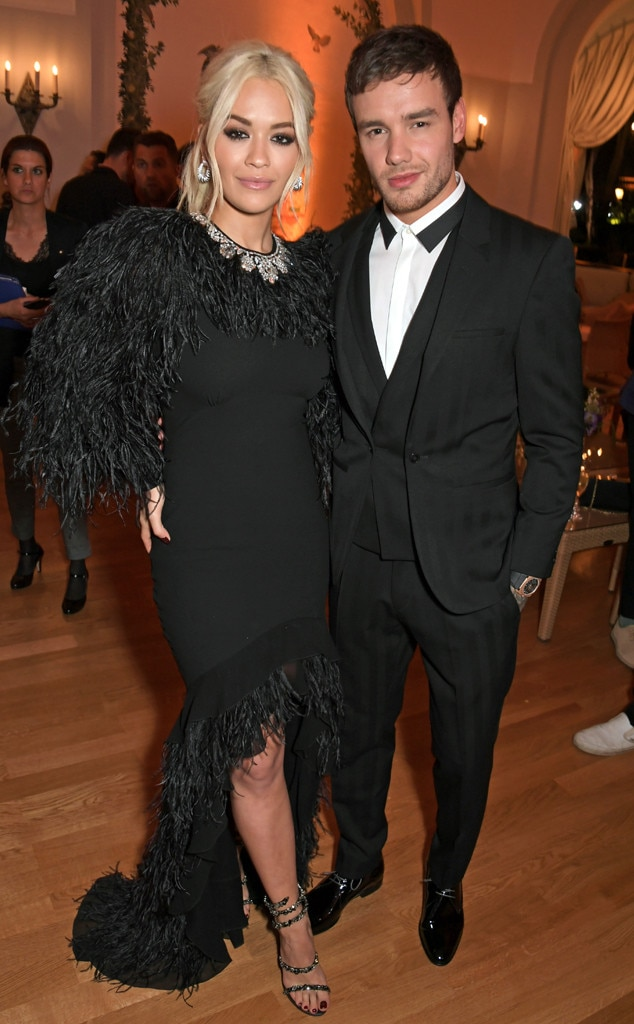 Rita Ora & Liam Payne -  Rita Ora rocks a feather-embroidered Michael Kors gown as she poses for pics with Payne at the 10th Annual Filmmakers Dinnerduring the Cannes Film Festival in France.