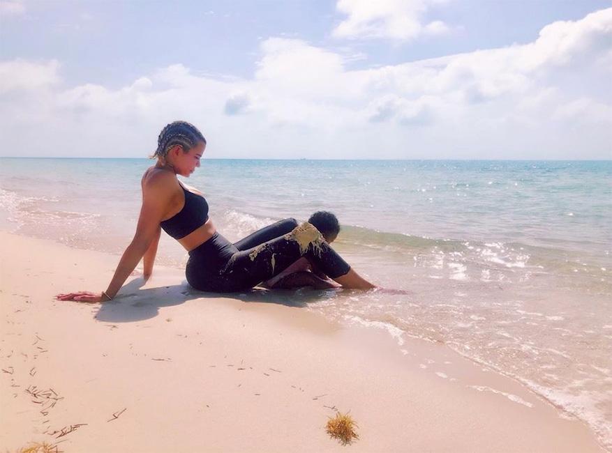 Khloe Kardashian, True Thompson, Turks and Caicos, Instagram