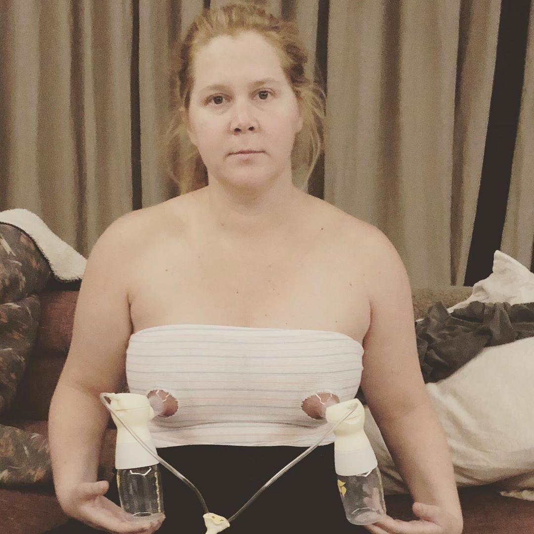 Amy Schumer, Breast Pump, Instagram