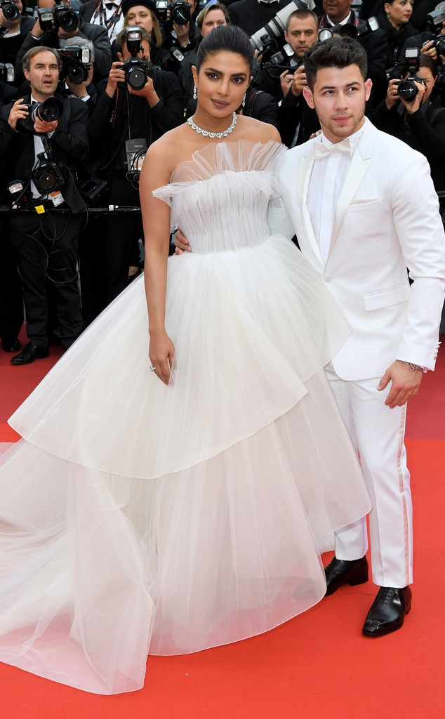 2019 Cannes Film Festival, Red Carpet Fashions, Priyanka Chopra, Nick Jonas