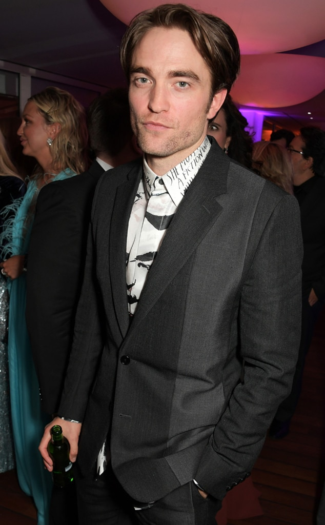 Robert Pattinson -  The  new Batman front-runner poses at a party on Saturday night.