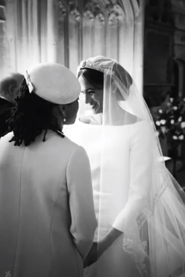 Mother-Daughter Moment -  Meghan shares a tender moment with mother  Doria Ragland .