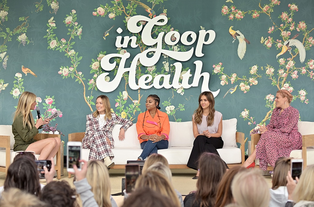 Gwyneth Paltrow, Olivia Wilde, Taraji P. Henson, Jessica Alba and Busy Philipps -  The five sit down for a panel discussion.