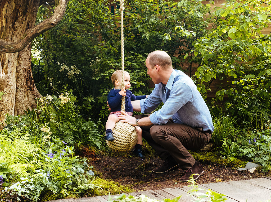 Prince William, Prince Louis, 2019 Chelsea Flower Show, Garden