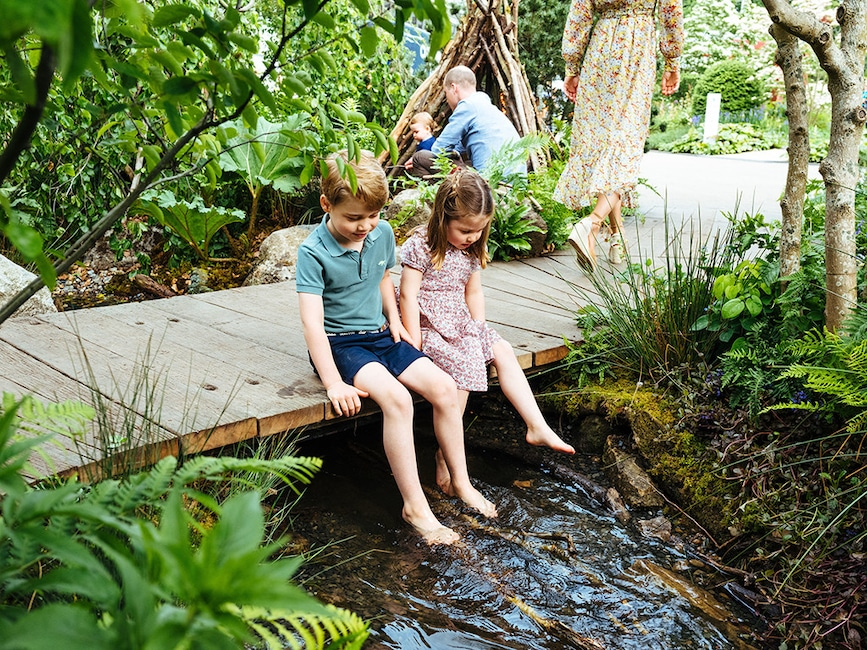Prince George, Princess Charlotte, 2019 Chelsea Flower Show, Garden
