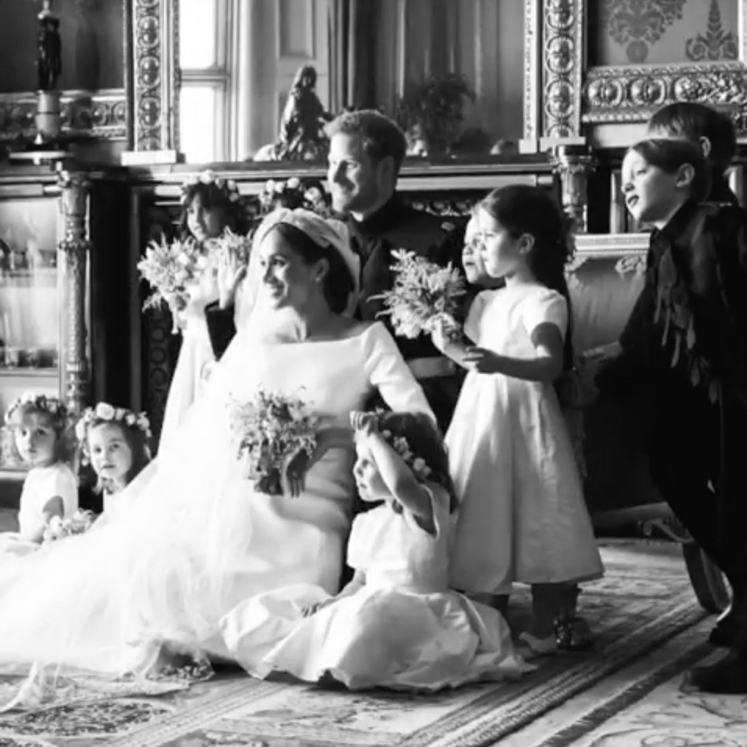 Prince Harry And Meghan Markle Wedding.The Kiddies From Meghan Markle And Prince Harry S Wedding Behind