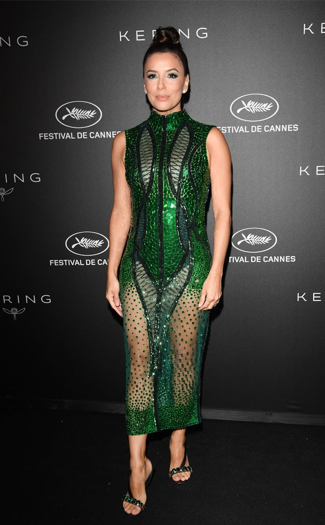 Green with Envy -  The actress sported for an all green look from head to toe at the Kering and Cannes Film Festival Official Dinner at Place de la Castre