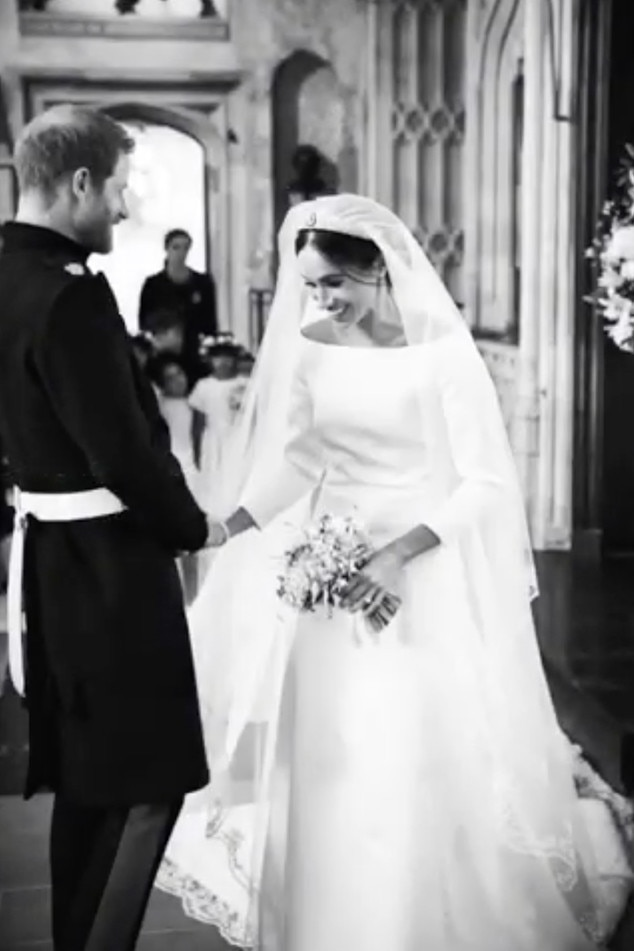Exchanging Vows -  On their 1-year wedding anniversary,  Meghan Markle  and  Prince Harry  released never-before-seen behind-the-scenes photos from their May 19, 2018 royal wedding at St George's Chapel at Windsor Castle on their  Instagram  account.