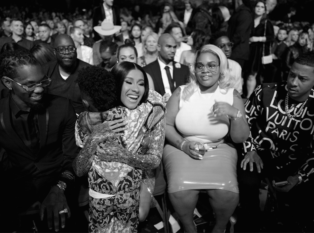 Cardi B, Offset & Future -  The Top Female Rap Artist winner gives  Ciara 's son a squeeze during the award show.