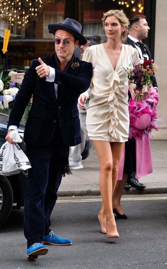 Jude Law, Phillipa Coan, Wedding