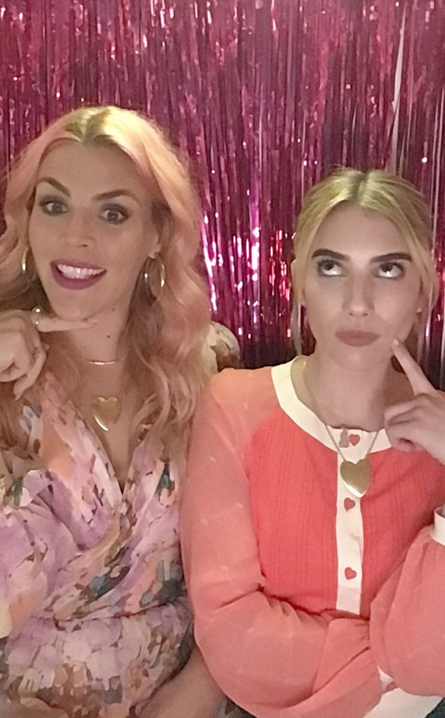 Emma Roberts -  The  American Horror Story  veteran keeps it fun in the photo booth with Busy.
