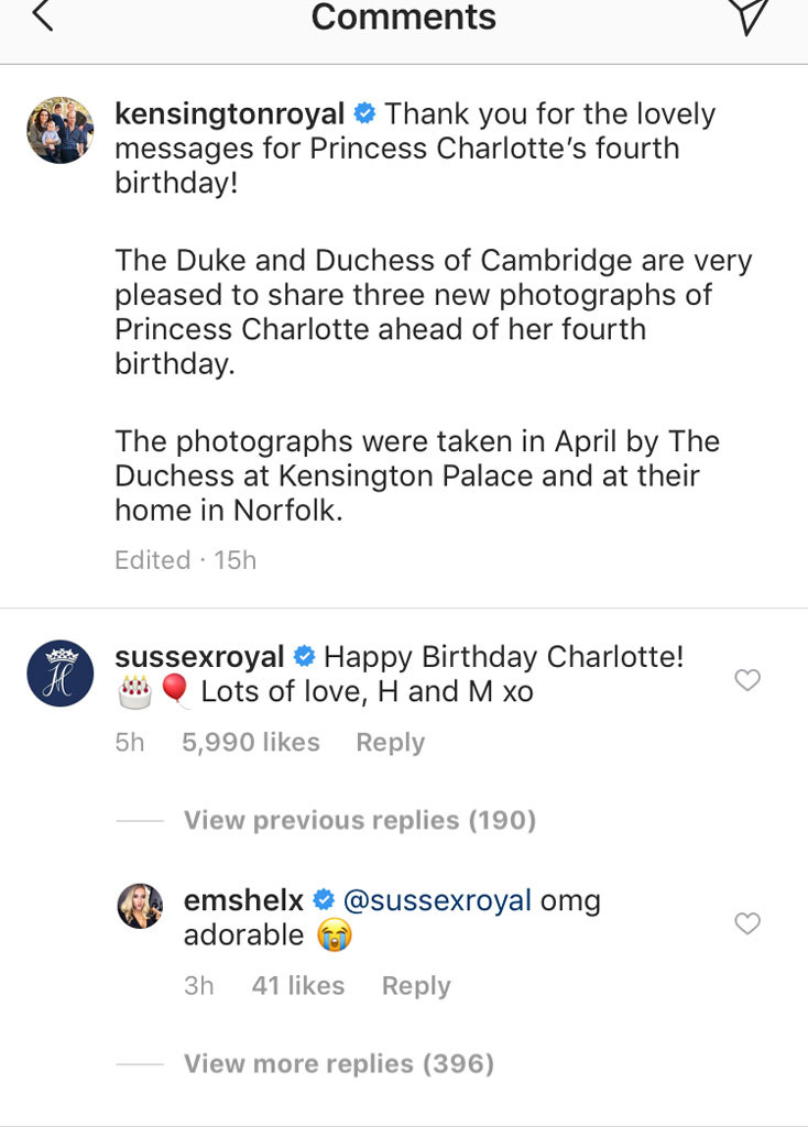 Meghan Markle, Prince Harry, Princess Charlotte, Instagram, Birthdays