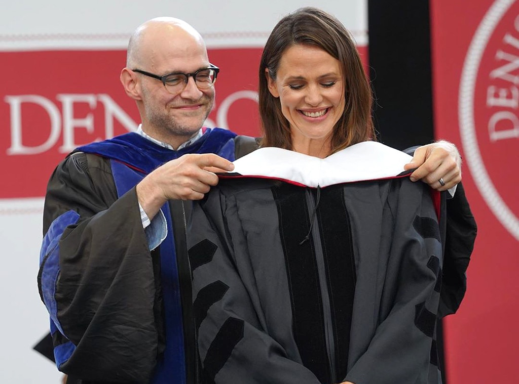 Jennifer Garner -  The A-list actress returned to her alma mater, Denison University, to deliver the commencement speech and receive an honorary Doctorate of Human Letters.