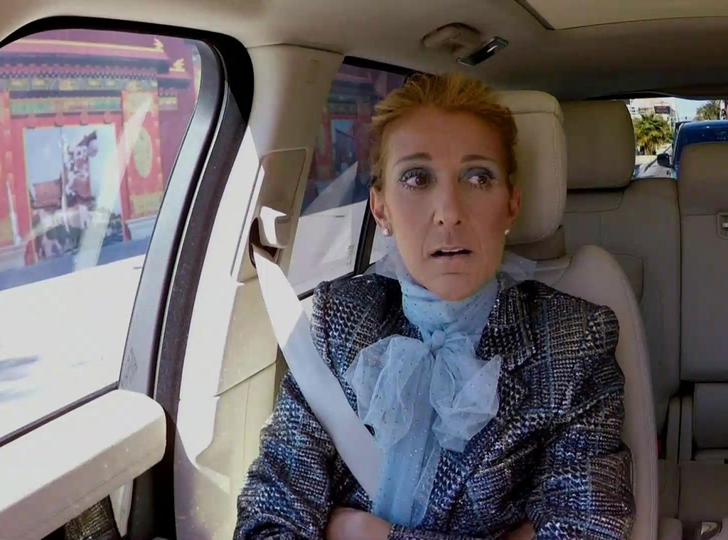 Celine Dion Wears Extravagant Suit on Carpool Karaoke