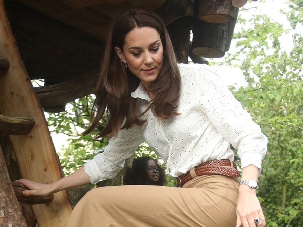 Kate Middleton Swaps Stilettos for Sneakers to Visit Her Chelsea Flower Show Treehouse
