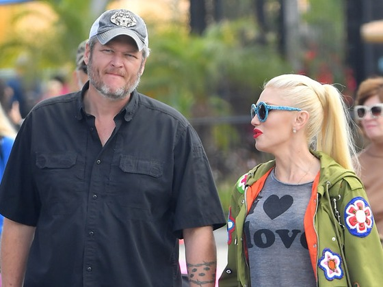 Blake Shelton and Gwen Stefani Have a Thrilling Day at Theme Park With Her Kids