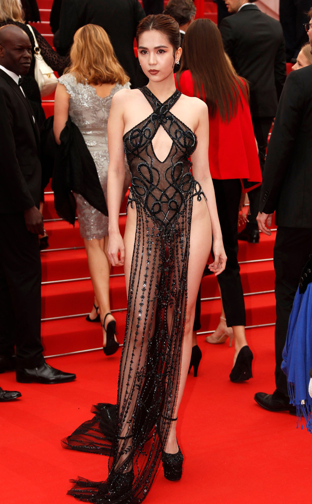 7aa397bef37 Cannes Film Festival s Most Daring Looks of All Time  From Kendall Jenner s  See-Through Dress to Madonna s Lingerie Set