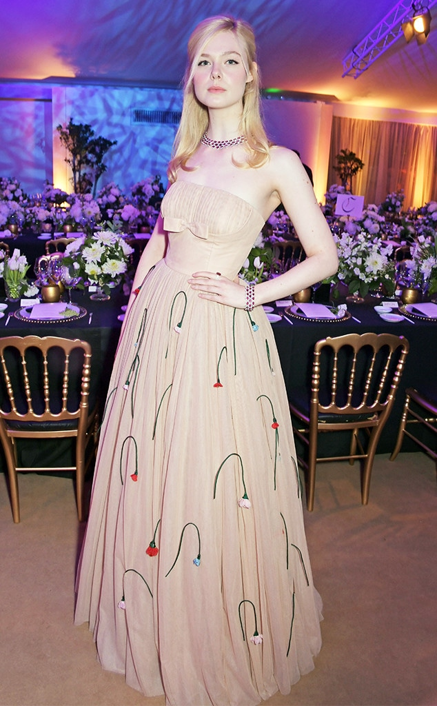 Elle Fanning, 2019 Cannes, Chopard Dinner