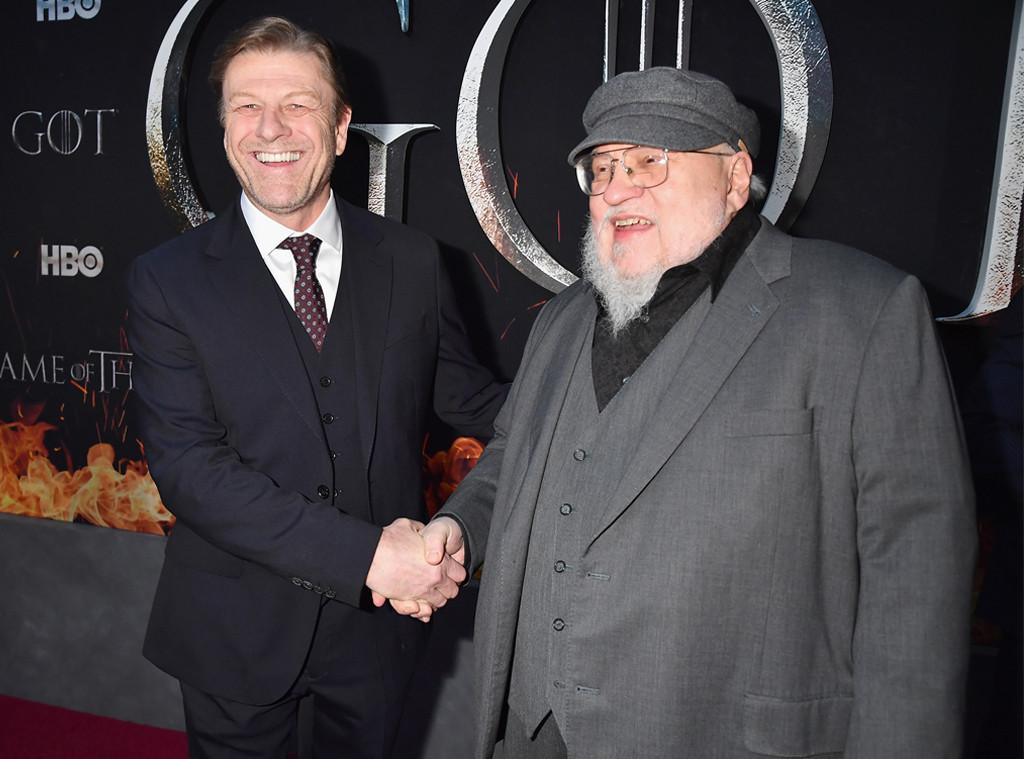 Sean Bean, George R. R. Martin, Game of Thrones Premiere