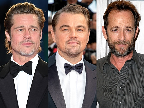 Brad Pitt and Leonardo DiCaprio Praise ''Icon'' Luke Perry for Work on <i>Once Upon a Time in Hollywood</i>