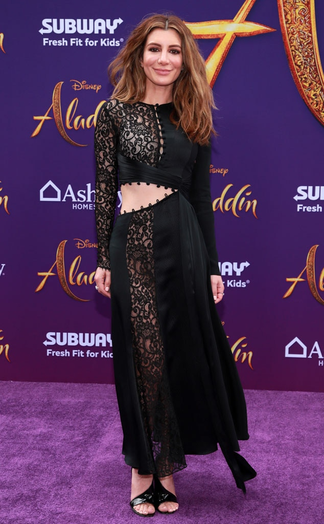 Nasim Pedrad -  The  SNL  star, who plays Dalia in the live-action  Aladdin  movie, stuns in a black lace, cut-out dress.