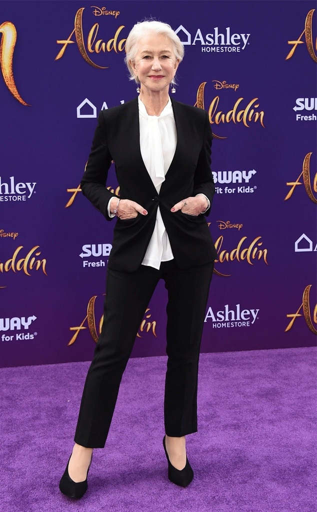 Helen Mirren -  The legendary actress graces the Los Angeles premiere in a simple but statement-making black and white suit.