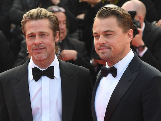 """Brad Pitt Awards Leonardo DiCaprio With """"Best Meltdown"""" for <i>Once Upon a Time in Hollywood</i> Scene"""