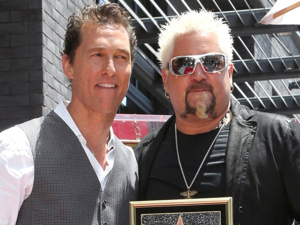 Matthew McConaughey Reveals He's a Guy Fieri Fan at Hollywood Walk of Fame Ceremony