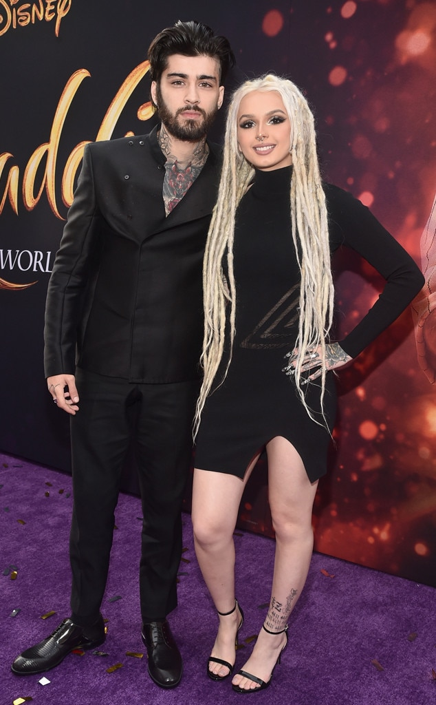 """Zayn Malik and Zhavia Ward -  The Brit and the singer, clad in matching black ensembles, recorded a cover of """"A Whole New World"""" together,which is set to play during the film's end credits."""