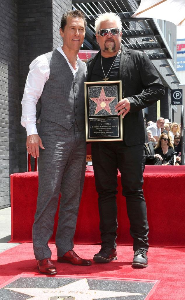 Guy Fieri, Matthew McConaughey, Hollywood Walk of Fame