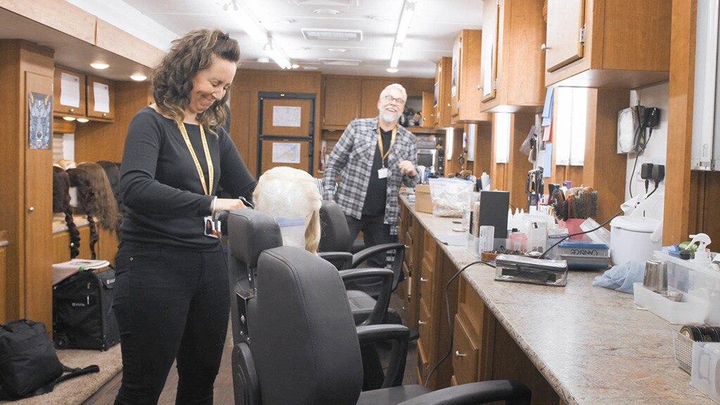 Hair People -  Candice Banks, hair supervisor, Kevin Alexander, hair designer